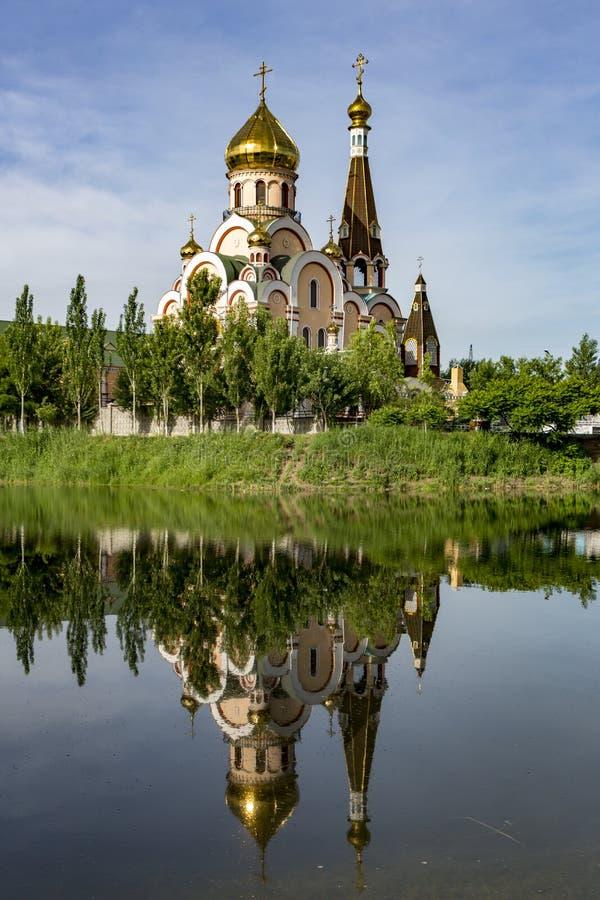 Christelijke kerk in de buurt van Almaty, Kazachstan royalty-vrije stock afbeelding