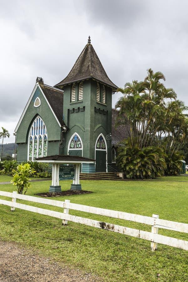 Christelijke kerk in Hawaï royalty-vrije stock foto's