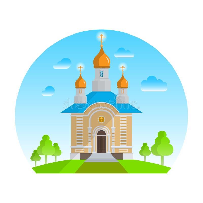 Christelijke kerk vector illustratie
