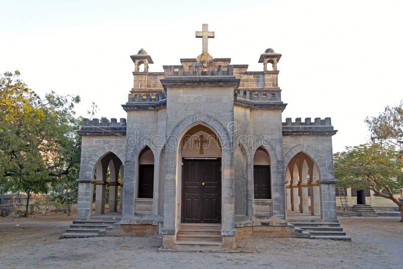 Christelijke kerk in Porbandar royalty-vrije stock foto