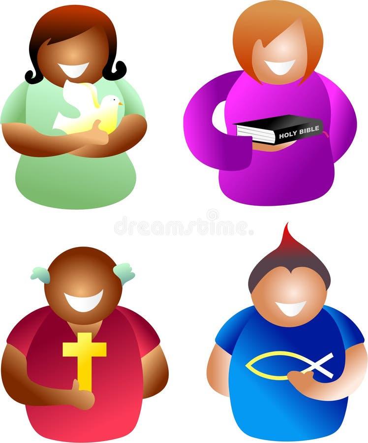 Christelijke mensen royalty-vrije illustratie