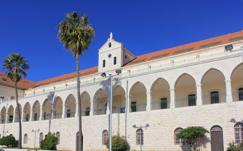 Christelijke school en kerk Salesian in Nazareth, Israël royalty-vrije stock afbeelding