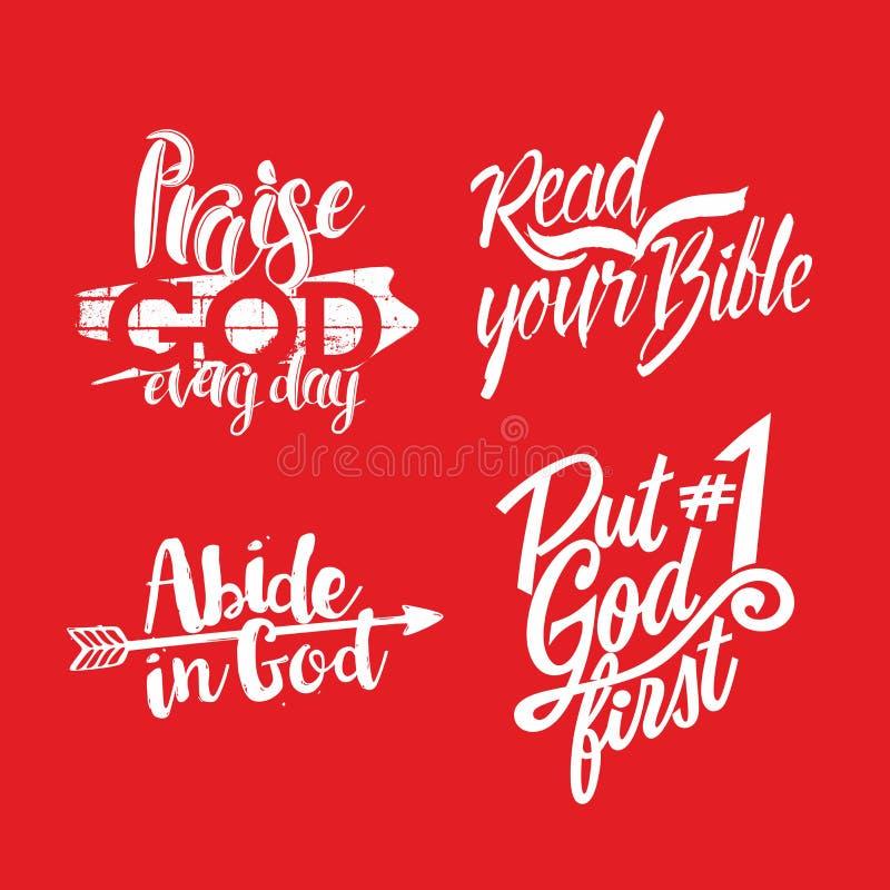 Christelijke uitdrukking lettering woorden royalty-vrije illustratie