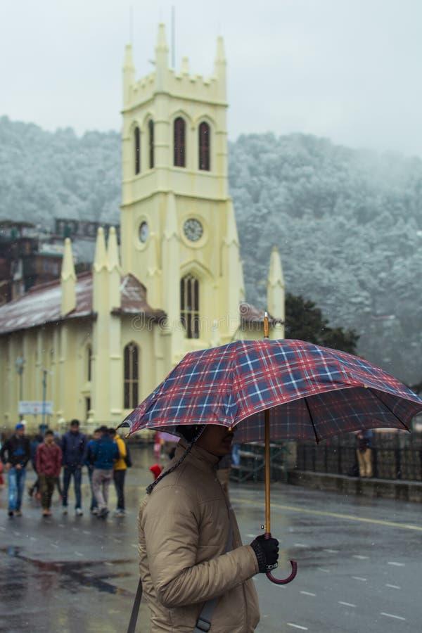 Christen und Schnee stockfotografie