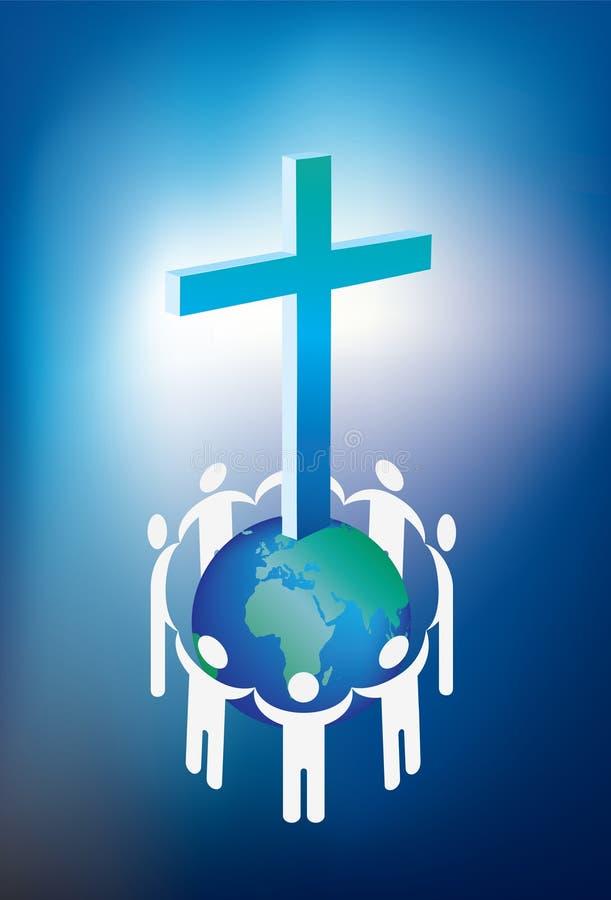 Christendom en wereld stock illustratie