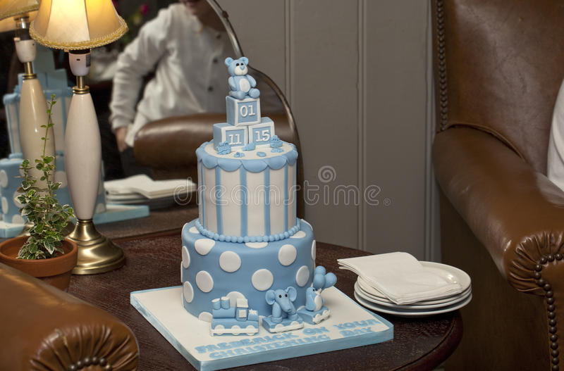 Christening Cake. royalty free stock photo