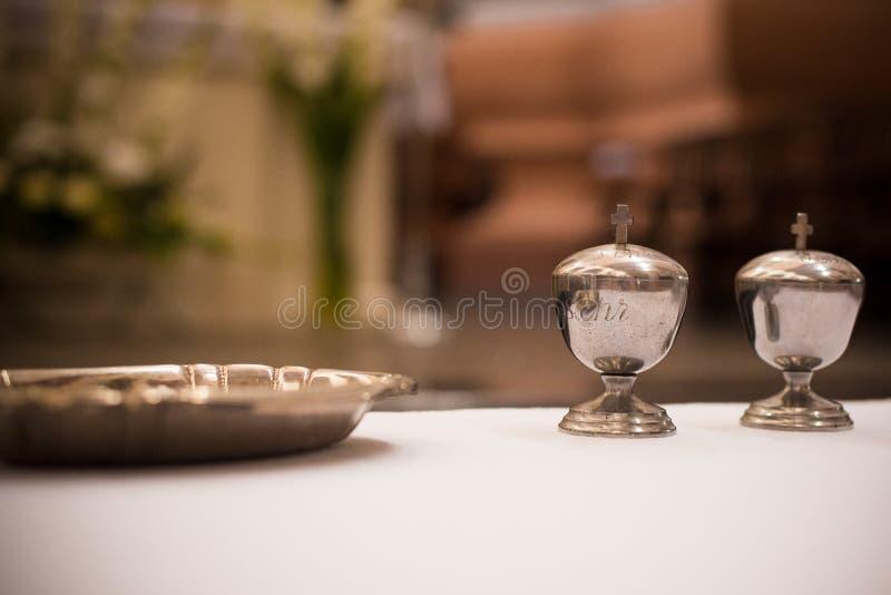 Christening jars. Myrrh stock photo