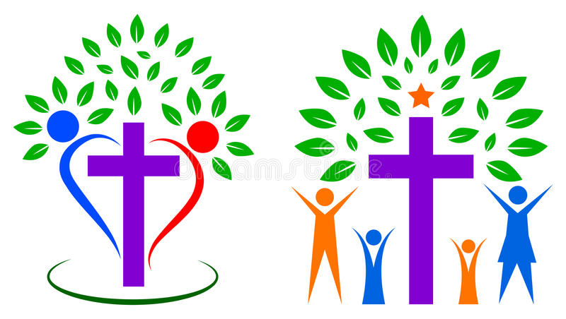 Christentumsleutebaum stock abbildung