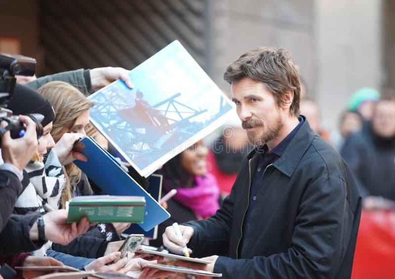 Christian Bale deltar i 'det vice royaltyfria foton
