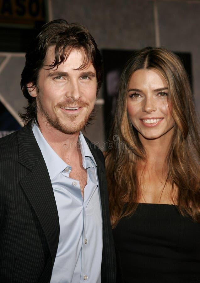 Christian Bale e Sibi Blazic fotografia stock