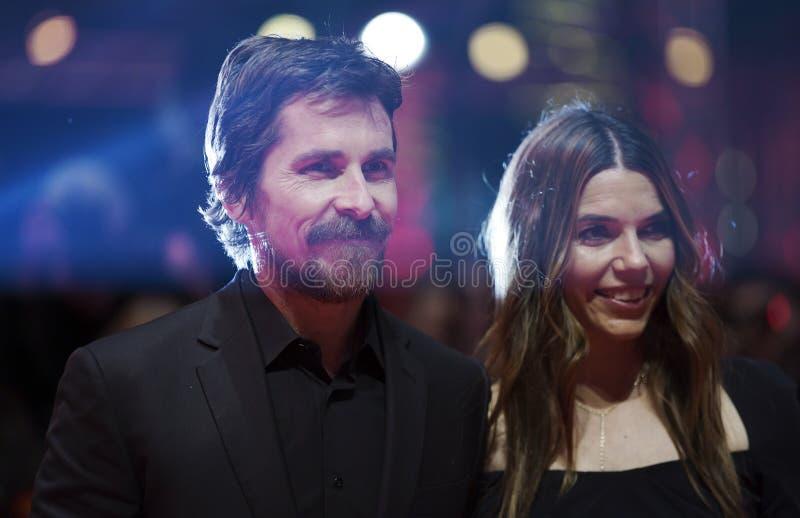 Christian Bale och Sibi Blazic royaltyfri fotografi
