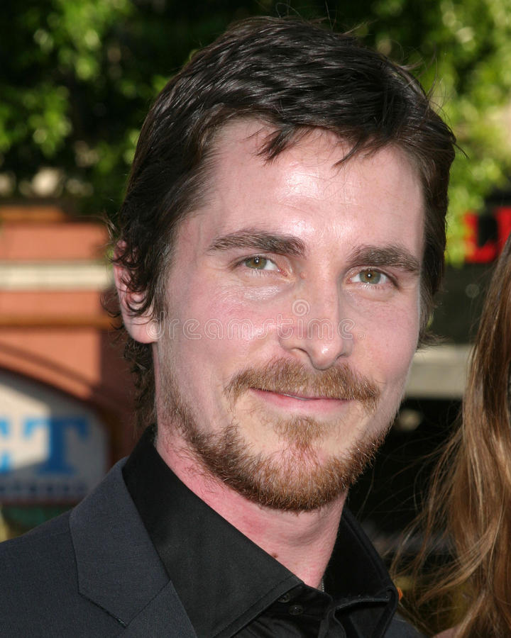 Christian Bale, ordinanza fotografie stock libere da diritti