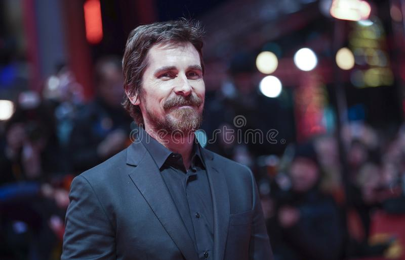 Christian Bale poses at the `Vice royalty free stock images