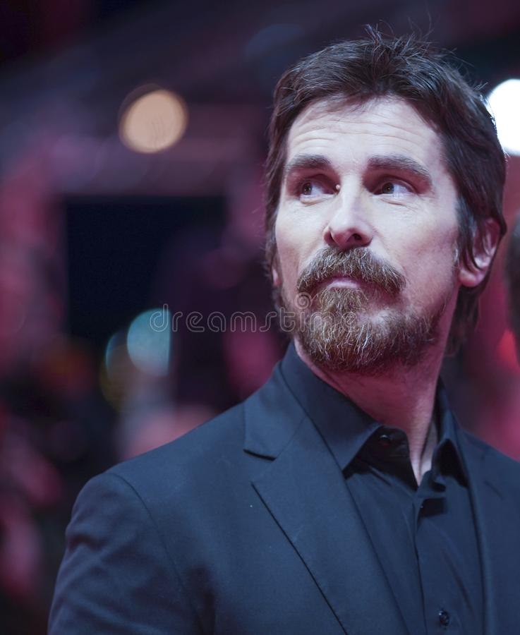 Christian Bale poses at the `Vice royalty free stock photo