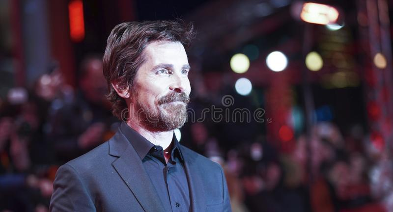 Christian Bale poses at the `Vice royalty free stock photography