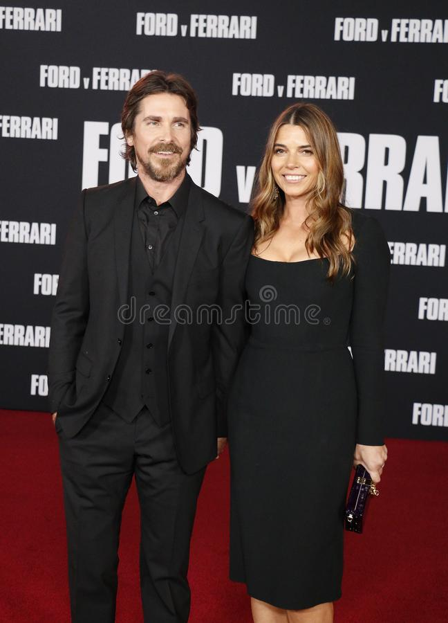 Christian Bale and Sibi Blaži royalty free stock photos