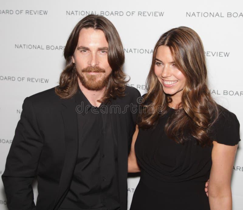 Christian Bale und Sibi Ballen lizenzfreie stockfotos