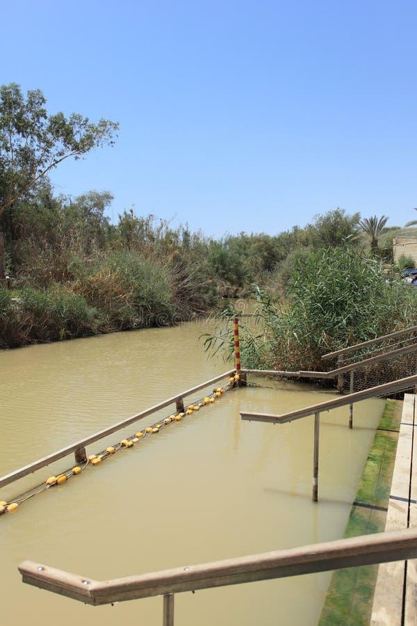 Christian Baptismal Site su Jordan River fotografia stock libera da diritti