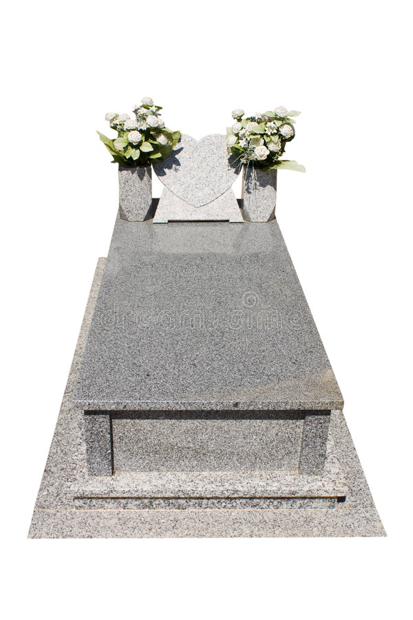 Christian blank gravestone stock photo