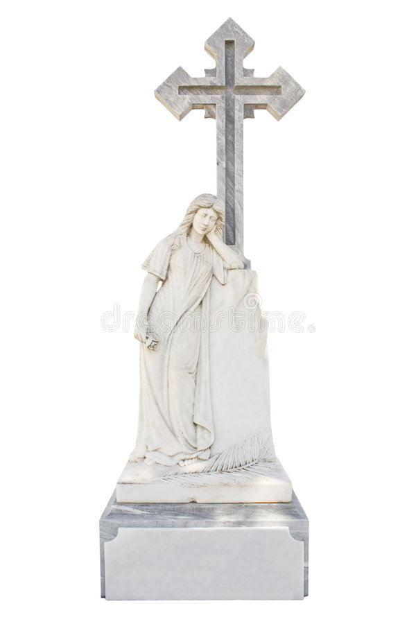 Christian blank gravestone royalty free stock photos