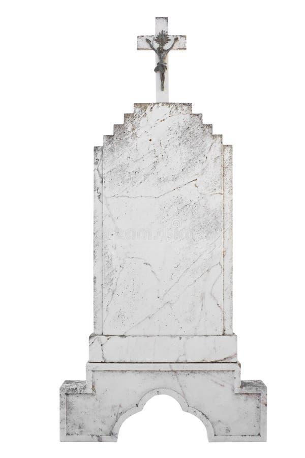 Christian blank gravestone stock image