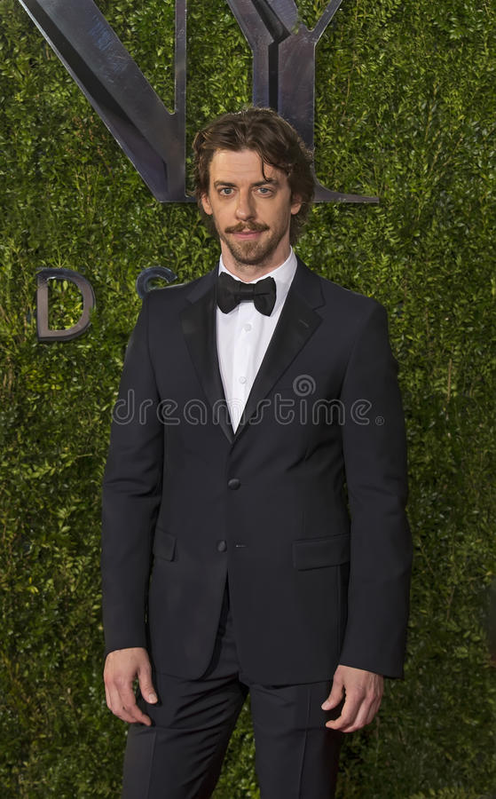 Christian Borle Arrives en Tony Awards 2015 imagenes de archivo