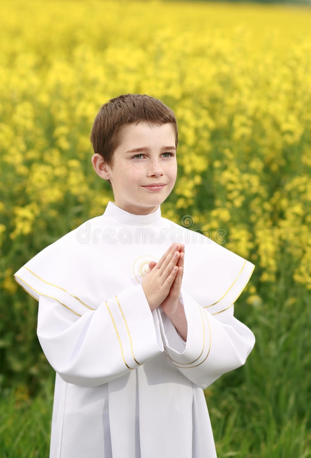 Christian Boy Royalty Free Stock Images