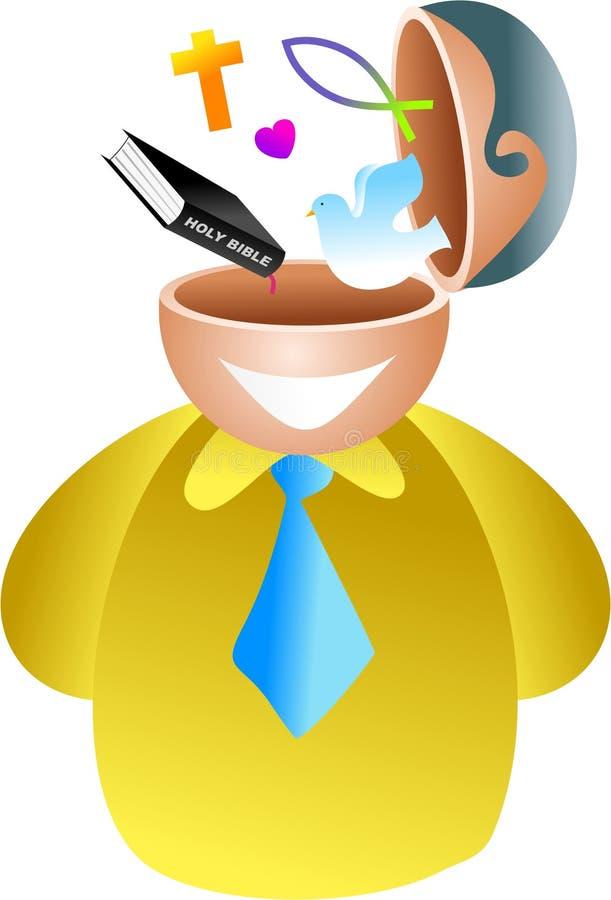 Christian brain vector illustration