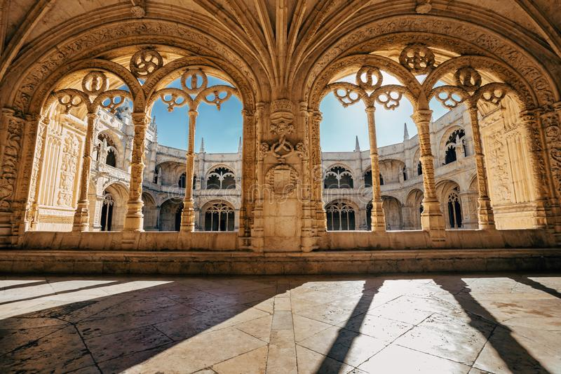 Christian building in Lisbon, POrtugal. stock photography