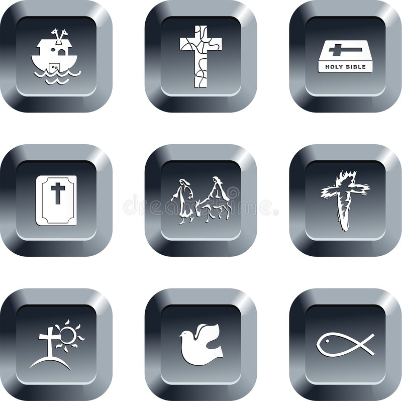 Download Christian buttons stock illustration. Image of grey, element - 3720701