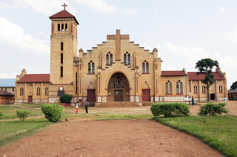 Christian Cathedral in Butare (Huye). Rwanda: Christian Cathedral in Butare (Huye). The Roman Catholic Diocese of Butare is an ecclesiastical territory or stock images