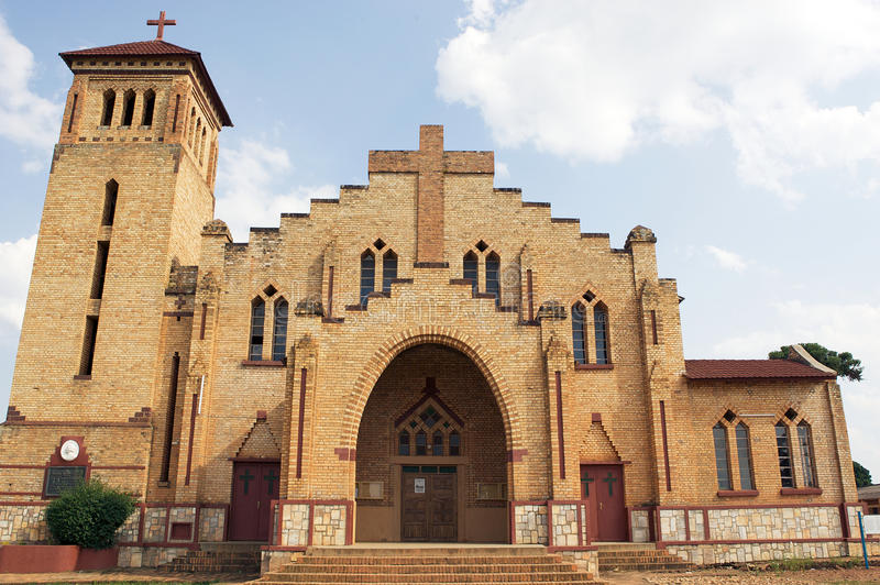 Christian Cathedral in Butare (Huye). Rwanda: Christian Cathedral in Butare (Huye). The Roman Catholic Diocese of Butare is an ecclesiastical territory or royalty free stock images