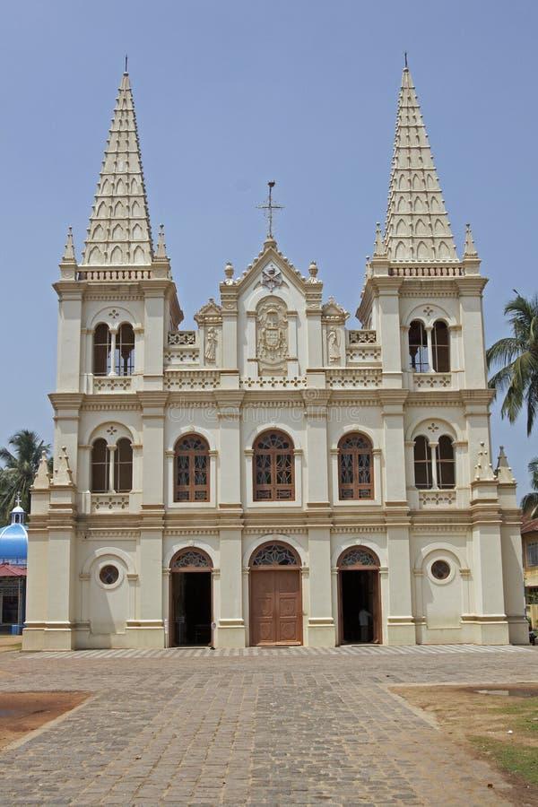 Christian Cathedral in India. Santa Cruz Cathedral, Fort Kochi, Kerala, India. 16th century stock photos