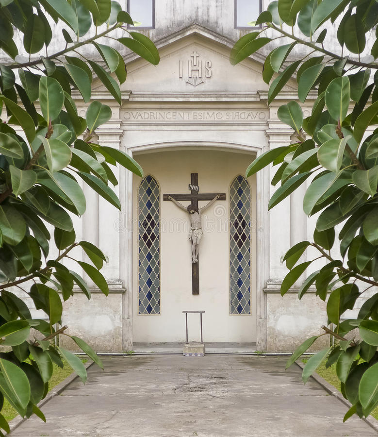 Christian Chapel Entrance imagem de stock royalty free