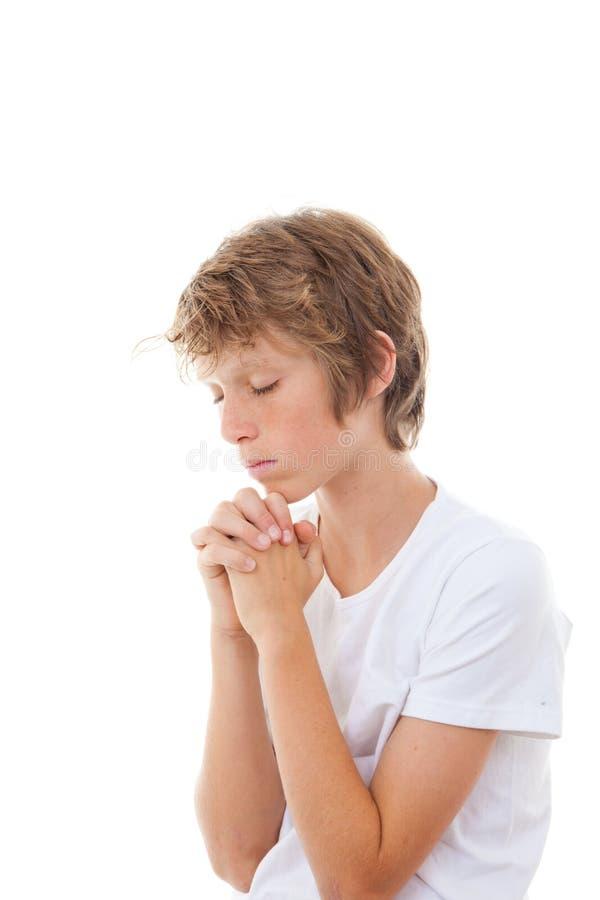 Christian child praying stock images