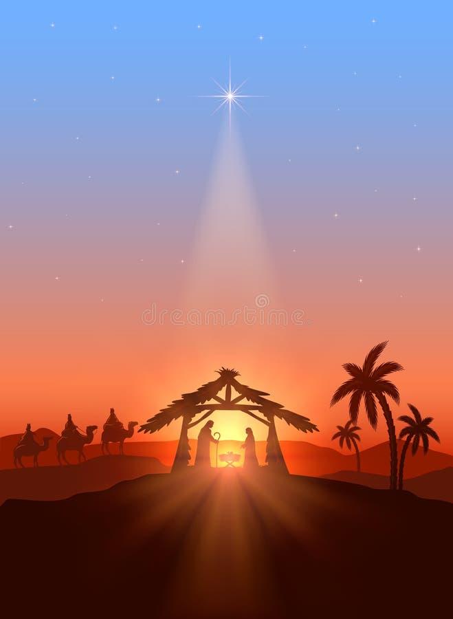 Christian Christmas-Hintergrund vektor abbildung