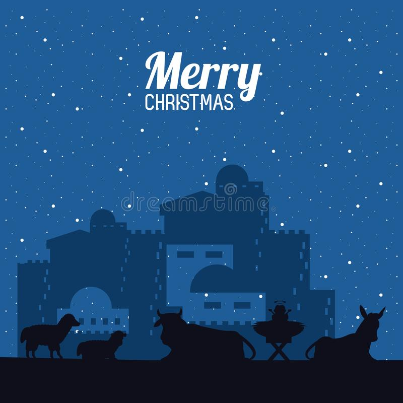 Christian Christmas tradicional libre illustration
