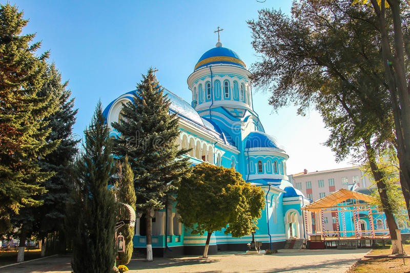 Christian Church Constantin si Elena. Located in Bălți, Republic of Moldova stock photography