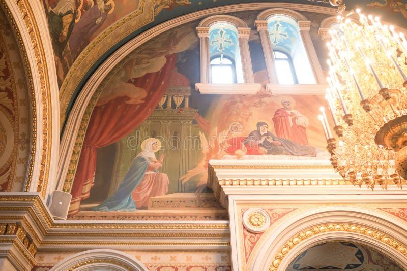 Christian church. Inside the Christian church. Ufa. Russian Federation stock photo