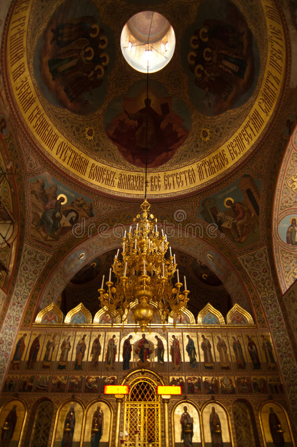 Christian church in Moscow stock photography