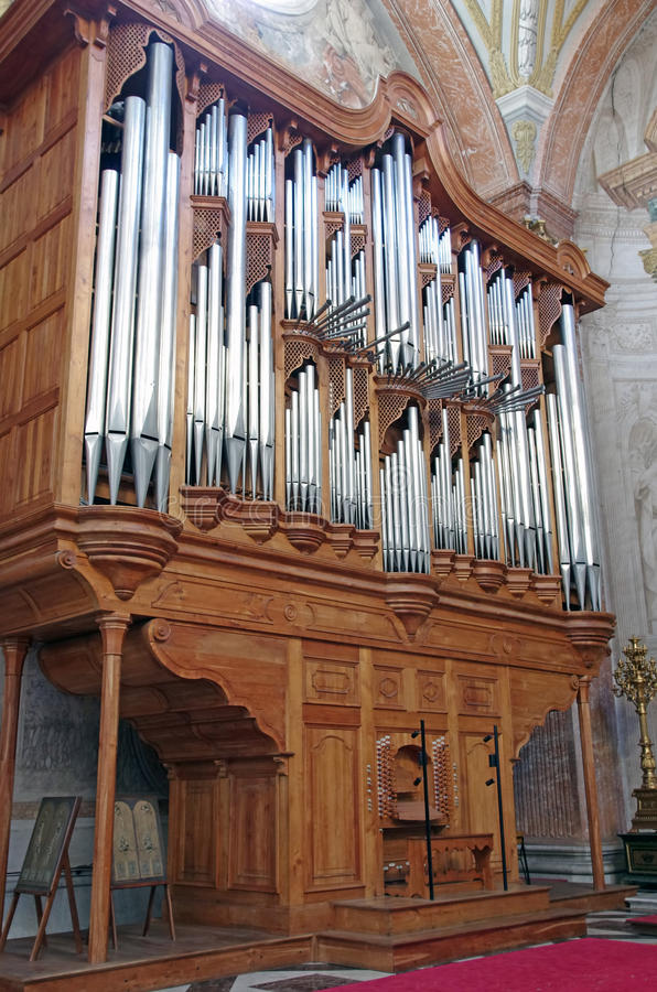 Christian church organ stock photos