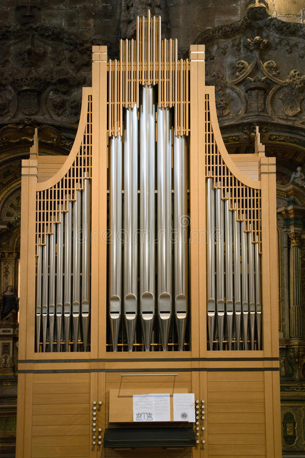 Organ Christian church sound pipe stock photography