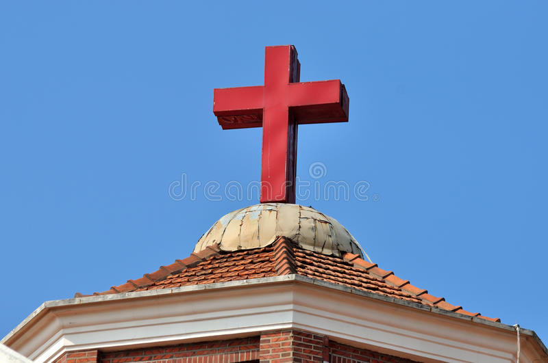Download Christian Church Roof And Cross Stock Photo - Image: 27090366