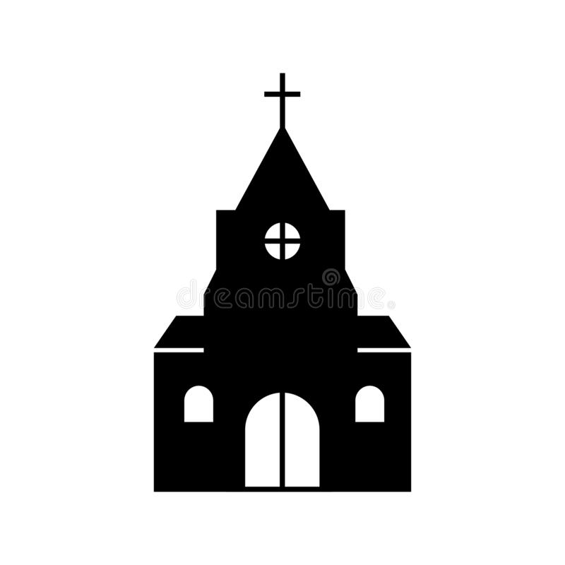 Free Christian Church Silhouette Stock Images - 154522924