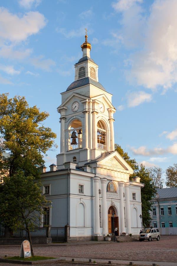 Christian church in Vyborg. Spaso-Preobrazhenskiy Sobor in Vyborg Russian Federation royalty free stock photography