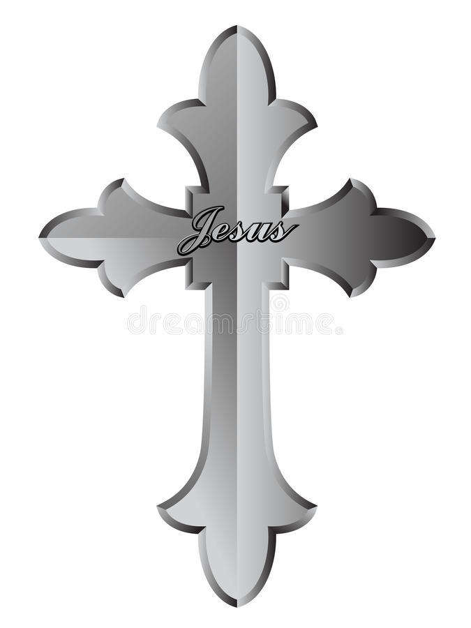 Christian Cross royalty free illustration