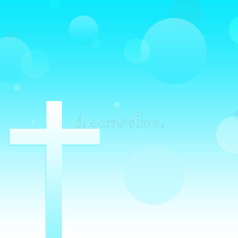 Christian Cross Background abstracto fotos de archivo