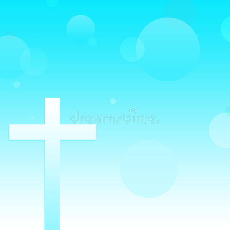 Christian Cross Background astratto fotografie stock