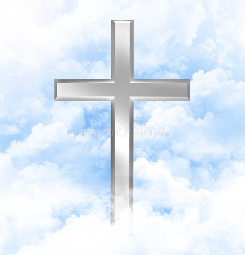 Download Christian Cross In Blue Sky Stock Illustration - Image: 13549624