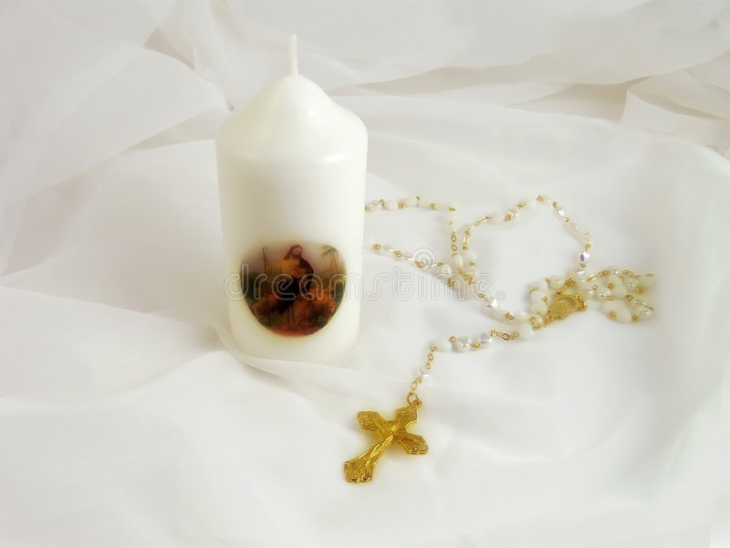 Download Christian cross and candle stock image. Image of symbols - 976987